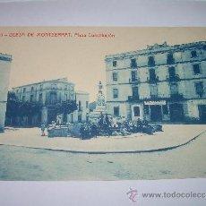 Postales: ANTIGUA POSTAL....OLESA DE MONTSERRAT..PLAZA CONSTITUCION...Y BANCO COMERCIAL DE TARRASA.. Lote 35535870