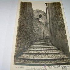 Postales: ANTIGUA POSTAL FOTOGRAFICA......GERONA....C. DE LA ESCOLAPIA..TORRE DE LA MURALLA ROMANA.. Lote 35537966