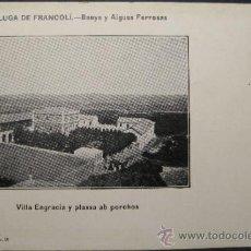 Postales: ESPLUGA DE FRANCOLI. BAÑOS Y AGUAS FERROSAS. VILLA ENGRACIA. 9,8 X 14,2 CM. SIN CIRCULAR. Lote 35542114