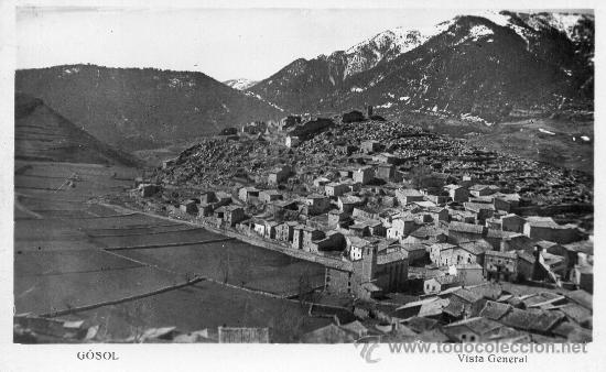 GOSOL. VISTA GENERAL. POSTAL FOTOGRÁFICA (Postales - España - Cataluña Antigua (hasta 1939))