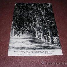 Postales: FIGUERES - BALNEARIO MERCEDES , PASEO CENTRAL DEL PARQUE 14X9 CM. . Lote 35656358