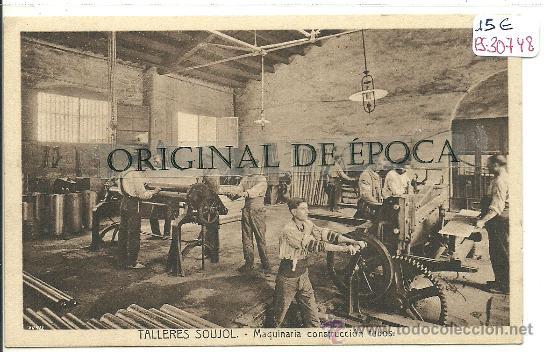 (PS-30748)POSTAL DE BARCELONA-TALLERES SOUJOL.MAQUINARIA CONSTRUCCION DE TUBOS (Postales - España - Cataluña Antigua (hasta 1939))