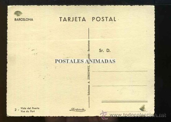 Postales: (a03650) Barcelona - Vista Del Puerto - Zerkowitz Nº2 - bonitos sellos republica - Foto 2 - 35940504