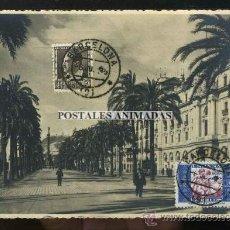 Postales: (A03651) BARCELONA - PASEO DE COLON - ZERKOWITZ Nº9 - BONITOS SELLOS REPUBLICA. Lote 35940527