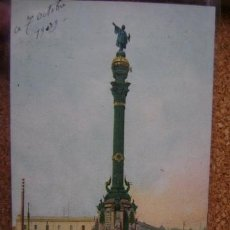 Postales: POSTAL CIRCULADA BARCELONA UPU Nº 13 MONUMENTO A COLÓN 1909. Lote 36100717