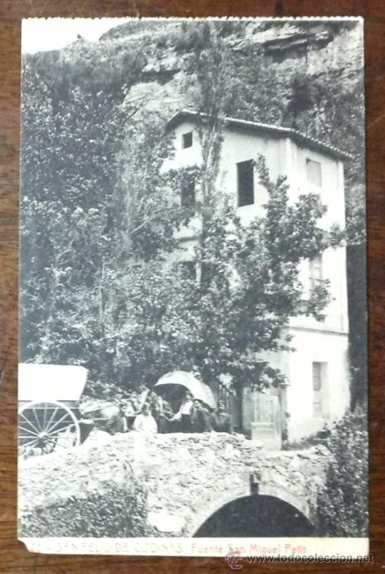SANT FELIU DE CODINES. FUENTE SANT MIGUEL PETIT. (FOT. THOMAS). (Postales - España - Cataluña Antigua (hasta 1939))