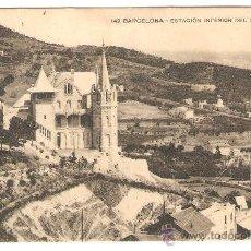 Postales: 142 BARCELONA - ESTACIÓN INFERIOR DEL FUNICULAR - MISSÈ HNOS BARNA - CIRCULADA - 14*9 CM. . Lote 36199884