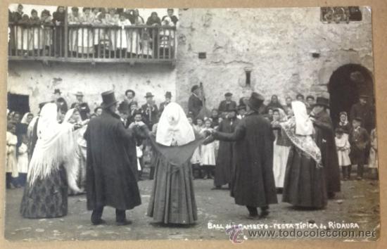 RIDAURA. BALL DEL GAMBETO FESTA TIPICA DE RIDAURA. POSTAL FOTOGRÁFICA. (Postales - España - Cataluña Antigua (hasta 1939))