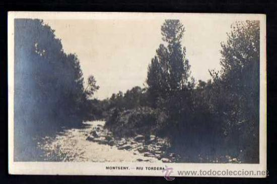 POSTAL FOTOGRÁFICA. MONTSENY. RIU TORDERA. NO CIRCULADA. (Postales - España - Cataluña Antigua (hasta 1939))