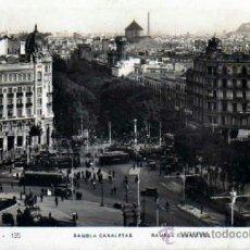 Postales: POSTAL BARCELONA RAMBLA CANALETAS - CIRCULADA. Lote 39248277
