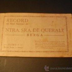 Postales: BLOC DE POSTALS. RECORD DEL REIAL SANTUARI DE NTRA SRA DE QUERALT. BERGA. 18 POSTALS.. Lote 36572516