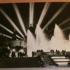 Postales: POSTAL BARCELONA - MONTJUICH - FUENTE MONUMENTAL ILUMINADA DE A. CAMPANA - SEP1958. Lote 36723489