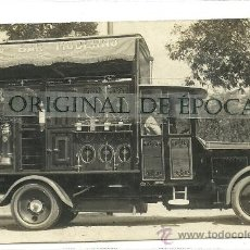Postales: (PS-31516)POSTAL FOTOGRAFICA DE BARCELONA-AUTO BAR MODERNO.PASEO COLON. Lote 36769358