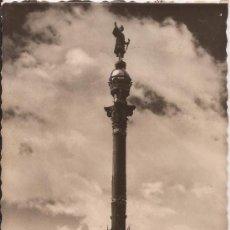Postales: BARCELONA - 90 - MONUMENTO A COLÓN - ESCRITA. Lote 36841892