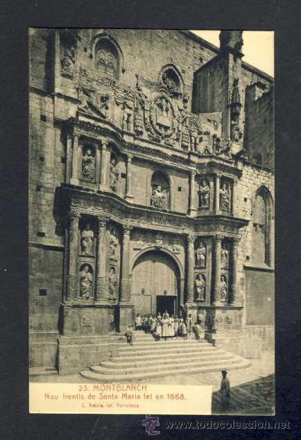 POSTAL DE MONTBLANC: NOU FRONTIS DE SANTA MARIA FET EL 1668 (ROISIN NUM. 23) (Postales - España - Cataluña Antigua (hasta 1939))