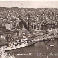 Postales: BARCELONA - 511 - VISTA PARCIAL DE LA CIUDAD - TALLERES ZERKOWITZ - CIRCULADA - 1960. Lote 36935012
