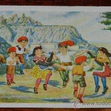 Postales: ANTIGUA POSTAL DE EDICIONES CATALANES, BARCELONA, SERIE SARDANA A MONTSERRAT, N.9, NO CIRCULADA.. Lote 36967653