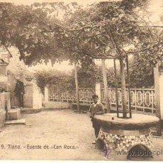 Postales: MUY BUENA POSTAL DE TIANA - FUENTE DE CAN ROCA - Nº9 DE FERGUI. Lote 36986714