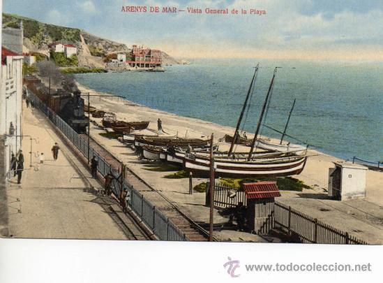 ARENYS DE MAR. VISTA PLAYA. E JOSÉ BRAS (Postales - España - Cataluña Antigua (hasta 1939))