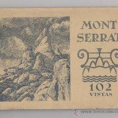 Postales: MONTSERRAT 102 VISTAS - BARCELONA - CUADERNILLO FOTOGRAFICO AÑOS 30 RIEUSSET. Lote 37081881