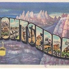 Postales: ,POSTAL T. G. SOLER MONTSERRAT (BARCELONA), VISTAS, CIRCULADA . Lote 37318884