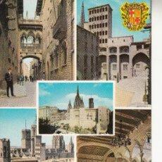 Postales: ,POSTAL A CAMPAÑA Y J PUIG-FERRAN SERIE II 50020 BARCELONA, BARRIO GOTICO, ESCRITA. Lote 37319219