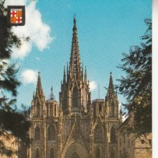 Postales: ,POSTAL COMERCIAL ESCUDO DE ORO 16, BARCELONA, CATEDRAL, ESCRITA . Lote 37329370