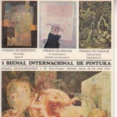 Postales: ,POSTAL 1ª BIENAL INTERNACIONAL PINTURA BARCELONA, PUBLICIDAD MUEBLES LA FABRICA, CIRCULADA . Lote 37329624