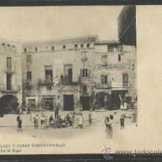 Postales: TARREGA - PLAZA Y CASAS CONSISTORIALES - 92 - JOSE CLAVEROL - REVERSO SIN DIVIDIR -(15.772). Lote 37271698