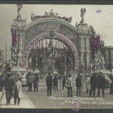 Postales: BARCELONA - FIESTAS DE BARCELONA 1910 - ARCO PLAZA DE CATALUÑA - FOT. SELLO EN SECO BELTRA -(15.818). Lote 37333326