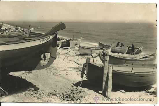 MASNOU.-OCATA.-BARCAS Y PLAYA.-FOTO TERESA TORRES (Postales - España - Cataluña Moderna (desde 1940))