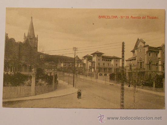 Barcelona Avenida Del Tibidabo Postal Anos Buy Old Postcards From Catalonia At Todocoleccion 37414310