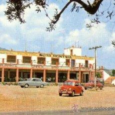 Postales: TARRAGONA - HOSTAL SOTA MONTSIA - ALCANAR PLAYA - SEAT 600. Lote 37518977