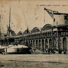 Postales: BARCELONA-PUERTO-MUELLE DE MURALLA. Lote 37657631