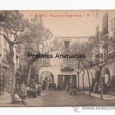 Postales: (A03719) BLANES - PLAÇA DE LA VERGE MARIA - THOMAS Nº4 - ANIMADA. Lote 37697551