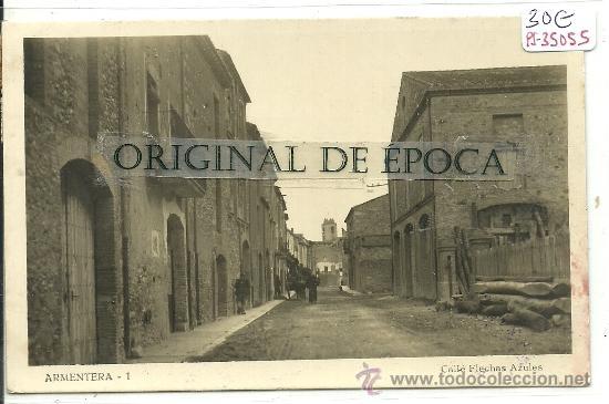 (PS-35055)POSTAL FOTOGRAFICA DE ARMENTERA-CALLE FLECHAS AZULES (Postales - España - Cataluña Antigua (hasta 1939))