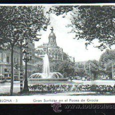 Postales: TARJETA POSTAL DE BARCELONA - GRAN SURTIDOR EN EL PASEO DE GRACIA. 5. ZERKOWITZ. Lote 37796308