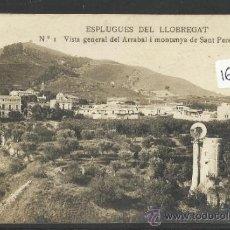 Postales: ESPLUGUES DE LLOBREGAT - 1 - VISTA GENERAL DEL ARRABAL Y MONTANYA DE SANT PERE MARTIR-FOTOGR-(16.870. Lote 37924651