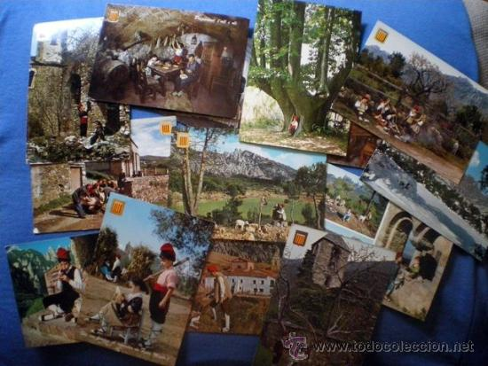Postales: LOTE DE 13 POSTALES CATALUNYA TIPICA + 5 COMIDA TIPICA PAIS CATALAN - Foto 2 - 38144679