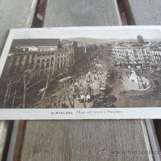 Postales: POSTAL FOTOGRAFICA DE BARCELONA PLAZA DEL TEATRO Y RAMBLAS L ROISIN FOT . Lote 38217307