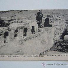 Postales: POSTAL GIRONA. RUINES D'AMPURIAS. COLUMBARI. BARRI ROMA.FOT. J. ESQUIROL. L'ESCALA.. Lote 38434536