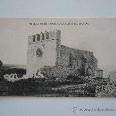 Postales: POSTAL GIRONA. IGLESIA DE S. MARTI D'AMPURIAS.FOT. J. ESQUIROL. L'ESCALA.. Lote 38434562