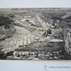 Postales: POSTAL GIRONA. RUINES D'AMPURIAS.VISTA PARCIAL DE LA FORTIFICASSIO BARRI GRECH.J.ESQUIROL.L'ESCALA.. Lote 38434687