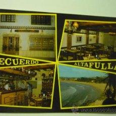 Postales: POSTAL DE ALTAFULLA - BARRIO MARITIMO --RESTAURANTE COSTA DORADA. Lote 38715176