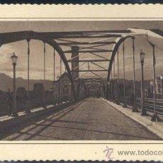 Postales: TORTOSA (TARRAGONA).- PUENTE DE TRÁNSITO SOBRE EL RIO EBRO. Lote 38791198