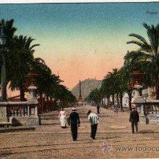 Postales: ANTIGUA POSTAL BARCELONA SERIE LEON Nº25 PASEO DE COLON COLOREADA. Lote 38808292