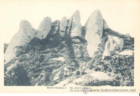 POSTAL DE MONTSERRAT , EL GORRO FRIGI (Postales - España - Cataluña Antigua (hasta 1939))