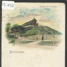 Postales: BARCELONA - CHALET DEL TIBIDABO- LITOGRAFIA EMILIO MAASS - REVERSO SIN DIVIDIR -(17437). Lote 38991648