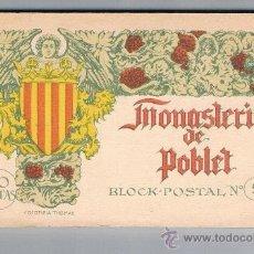 Postales: MONASTERIO DE POBLET 20 POSTALES FOTOTIPIA THOMAS BLOK POSTAL Nº 5 LEER DESCRIPCION. Lote 68678121