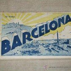 Postales: LIBRO DE POSTALES (10 VISTAS) DE BARCELONA. Lote 39019092